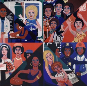 For the Women's House, Faith Ringgold.  Rikers Island emakumezkoen espetxean margotutako murala, 1971